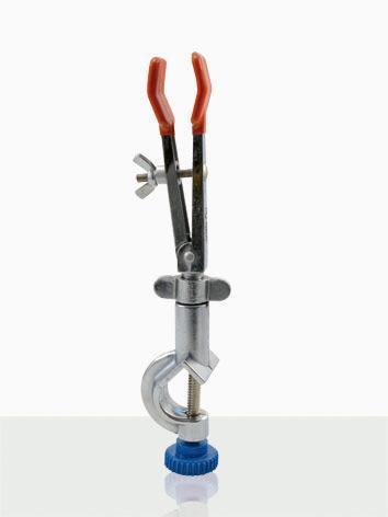 Pinça de 2 braços com pontas revestidas em PVC com mufa giratória