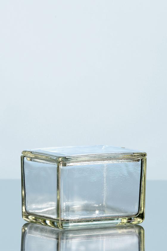 Caixa de vidro em vidro alcalino