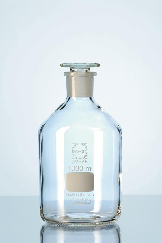 Frasco para reagente boca estreita rolha de vidro