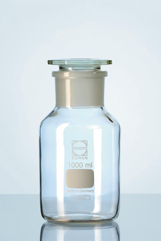 Frasco para reagente boca larga rolha de vidro