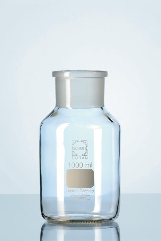 Garrafão de vidro boca larga com junta esmerilhada