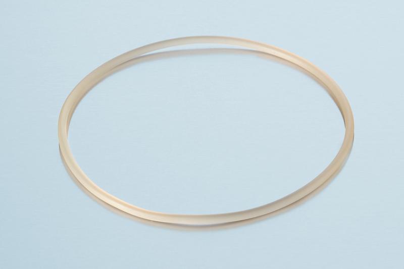 O-ring de silicone transparente