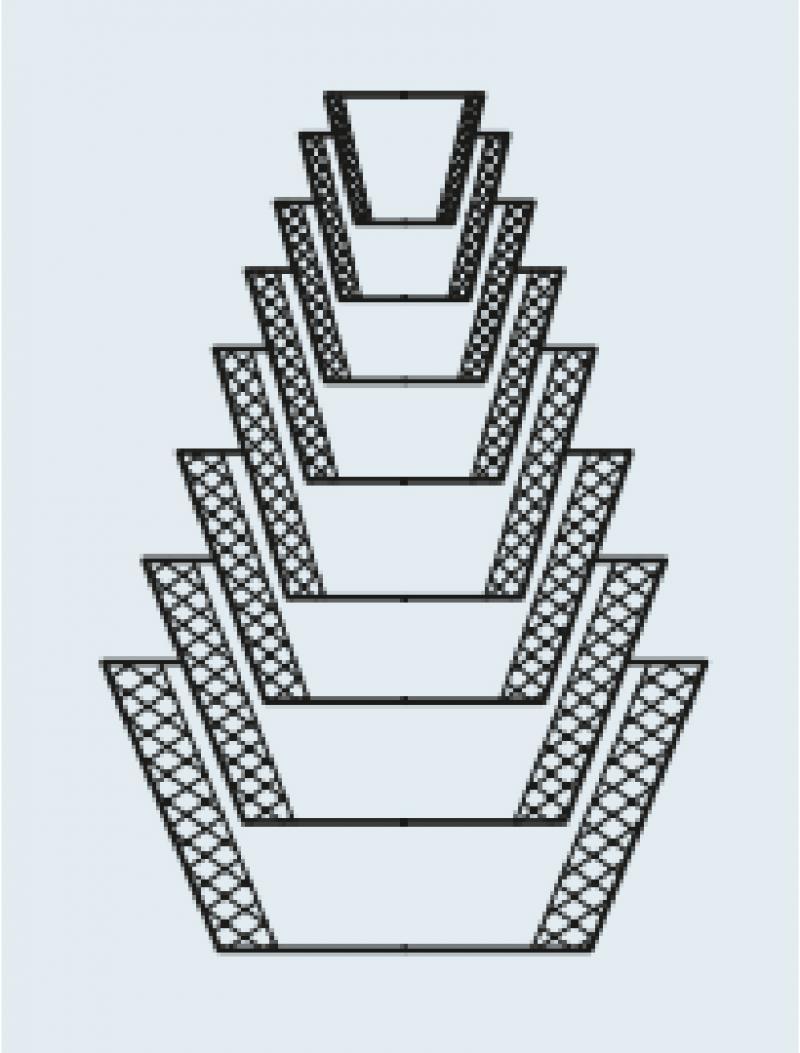 Conjunto de guko composto de 8 peças