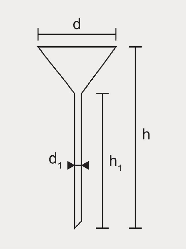 Funil Analítico Haste Longa Boro silicato