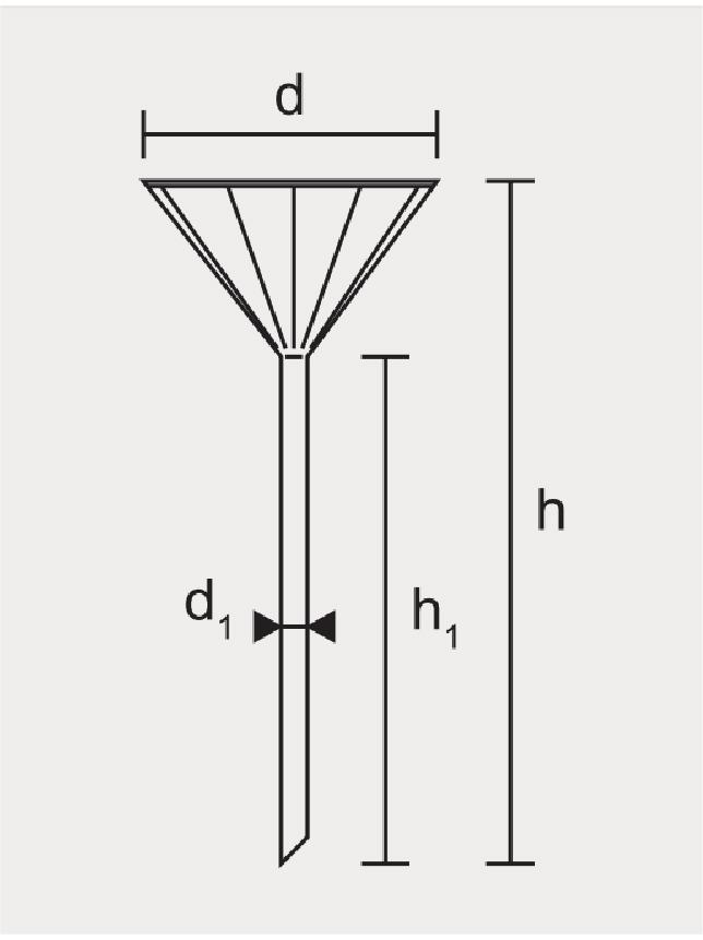 Funil Analítico Raiado Haste Longa Boro silicato