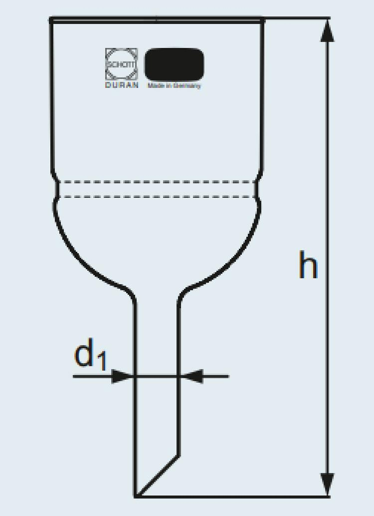 Funil de buchner em boro com placa porosa