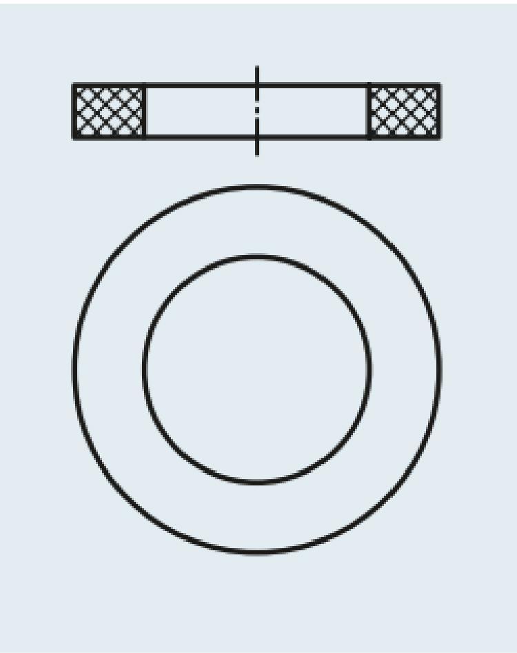 Selos FKM para discos de filtro