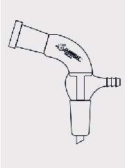 Tubo Adaptador em Ângulo de 105° com Duas Juntas e Saída para Vácuo