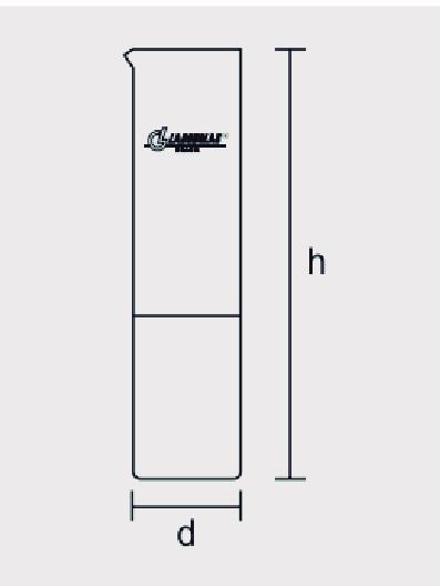 Tubo Cilíndrico para Ensaio de Cor, ASTM D 1500