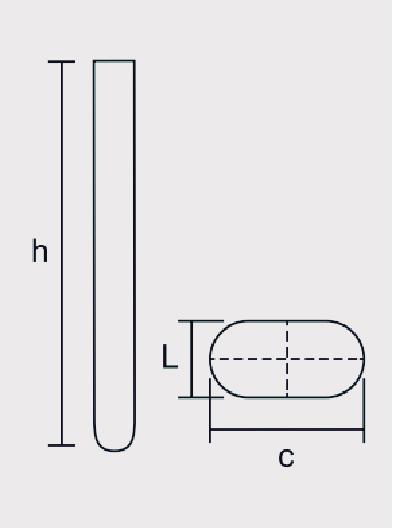 Tubo de comparação de Corrosão ASTM D 130