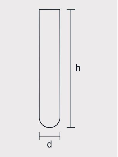 Tubo de Ensaio Vidro Neutro Reforçado