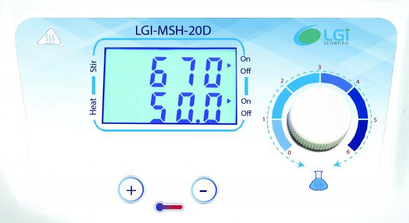 Agitador Magnético com Aquecimento Digital LGI-MSH-20D