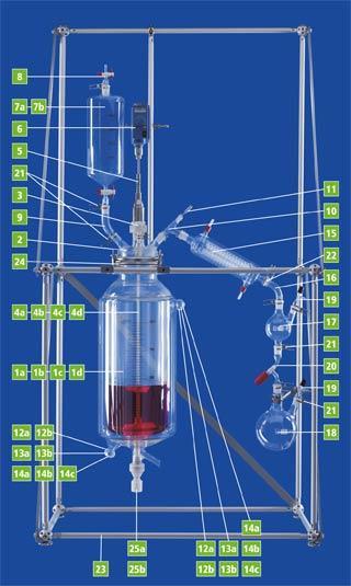 Reator completo ( 6, 10, 20 L - DN 150)