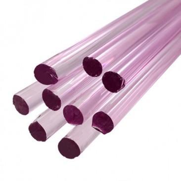 Bastões de vidro Boro - Rosa