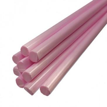Bastões de vidro Boro - Rosa opaco
