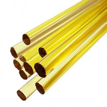 Bastões de vidro Boro - Amarelo claro