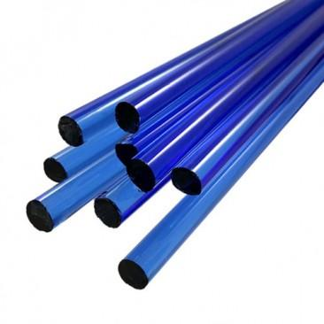 Bastões de vidro Boro - Azul claro