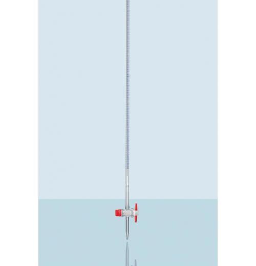 Bureta DURAN® com tarja Schellbach e chave de PTFE, classe AS