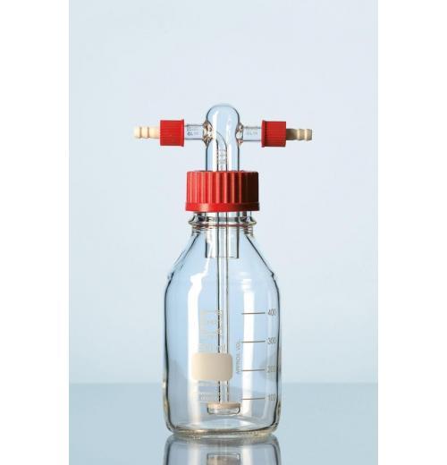 Frasco lavador de gás com placa porosa e frasco de 500 ml graduado