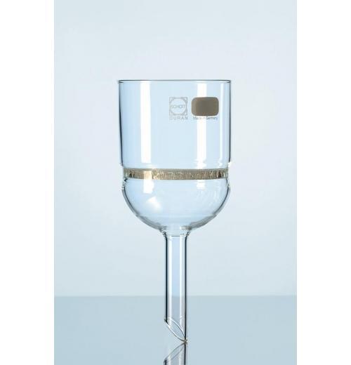 Funil de buchner vidro boro com placa de fenda