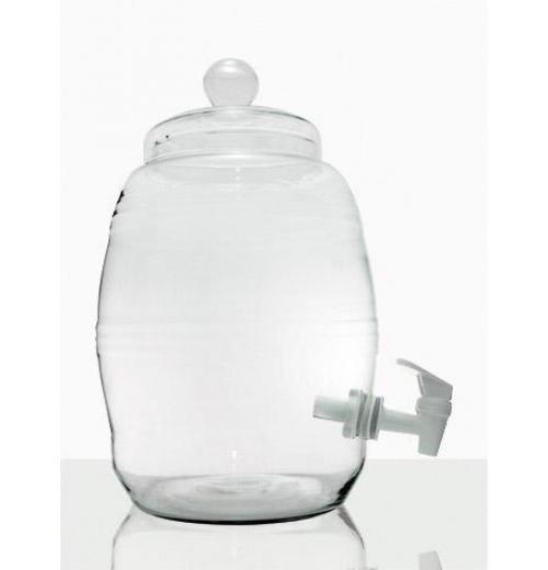 Barril de Vidro com Torneira Plástica