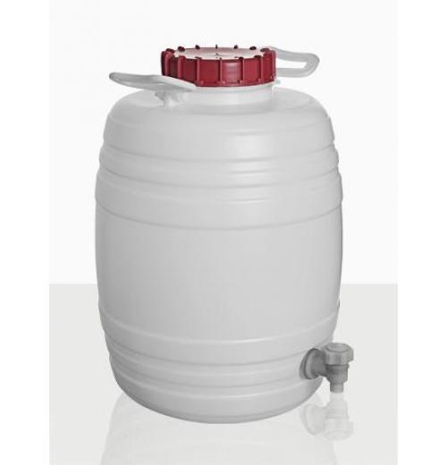 Barril para Água Destilada com Tampa e Torneira de Combustão