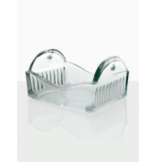 Berço de Vidro com Alça Inox, para 8 Lâminas 76 X 26 mm