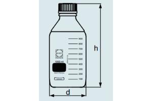 Frasco reagente Graduado com tampa película protetora
