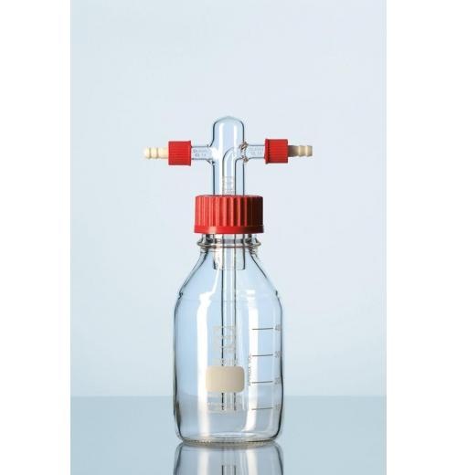 Frasco lavador de gás sem placa porosa e frasco de 500 ml graduado