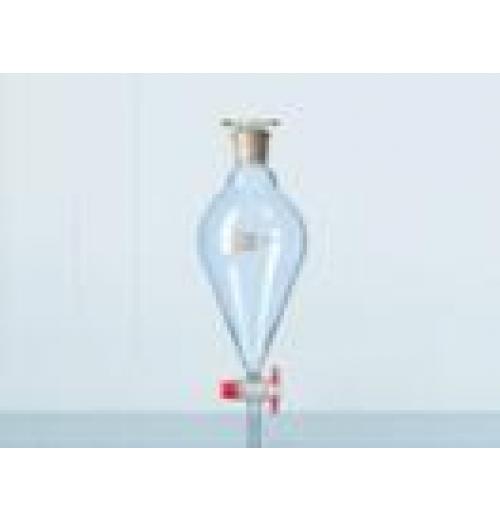 Funil separação squibb (pera) torneira PTFE rolha vidro