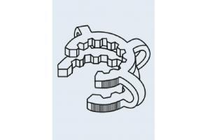KECK Clipe para juntas cônicas do POM