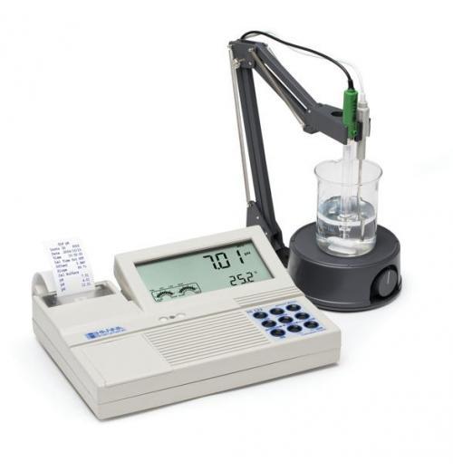 Medidor de pH de bancada com impressora integrada